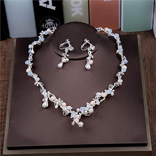 Wedding Crown, Beautiful headdress/Bridal Crown Luxurious Crystal Pearl Crown Wedding Headwear Super Fairy White Wedding Accessories. by Junson (Image #3)