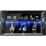 "JVC KW-V130BT Double DIN Bluetooth In-Dash DVD/CD/AM/FM Car Stereo With 6.2"" Clear Resistive Touchscreen"