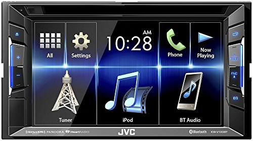 JVC KW-V130BT Double DIN Bluetooth In-Dash DVD/CD/AM/FM Car Stereo With 6.2'' Clear Resistive Touchscreen by JVC