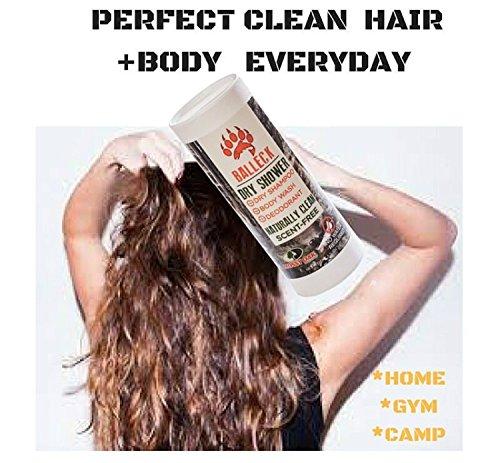 Balleck Mossy Oak Dry Shower Deodorant Body wash Waterless