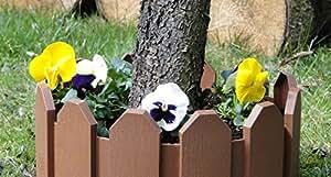 Woolux Garden - Empalizada para jardines (2,4 m), color marrón