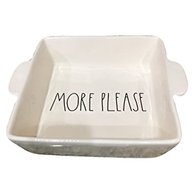 Rae Dunn By Magenta MORE PLEASE Ceramic Square Casserole Dish Artisan Collection