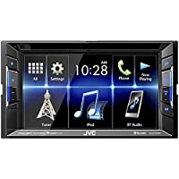 JVC KW-V130BT Double DIN Bluetooth In-Dash DVD/CD/AM/FM Car Stereo With 6.2' Clear Resistive Touchscreen