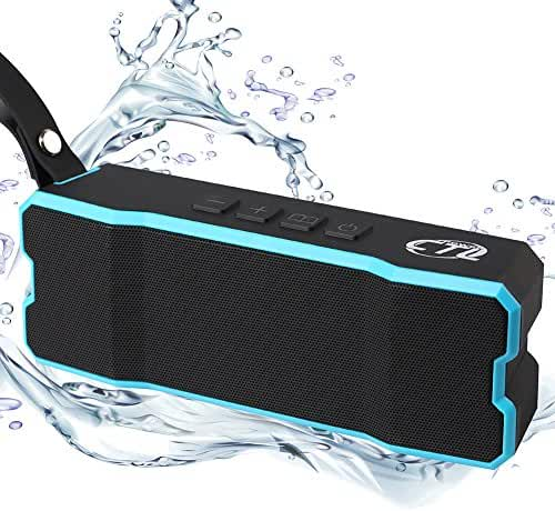 Bluetooth Speakers, CTLpower Wireless Portable Waterproof Speaker with 10W Stereo Sound Dual-Driver for iPhone, Phones, iPad and Tablet (Blue)