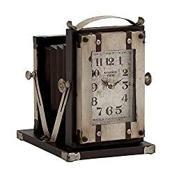 Plutus Brands Vintage Styled Buckingham Fancy Metal Table Clock