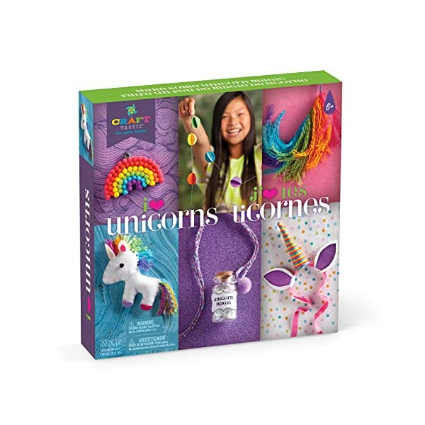 Craft-Tastic – I Love Unicorns Kit – Craft Kit Includes 6 Unicorn-Themed Projects 3