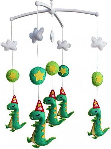 赤ちゃんが眠りに落ちるのを助ける赤ちゃんミュージカルグッズベビーベッドモバイルベル、恐竜タイプ、#01