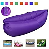 Greatever Outdoor Inflatable Lounger, Waterproof, Inflates Quickly, Lounge Chair, Air Sleep Sofa/Couch, Sleeping Compression Air Bag for Camping Travel (Logo-PP-CA)