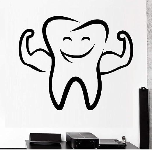 Sonrisa de Diente de Dibujos Animados Vinilo Tatuajes de Pared ...