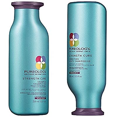 Pureology Strength Cure Shampoo & Conditioner Duo, 8.5 oz & Bonus Paul Mitchell Compact Mirror