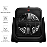 2 in 1 Space Heater - Portable Heater with Fan, 1500W Small Heater with Overheat Protection and Tip-over Switch for Safety, Dual Speeds and Adjustable Angles Electric Space Heater for Office and Home