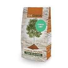 Premium Chaga Mushroom Mint Powder - 8 oz of Authentic 100% Wild Harvested Canadian Chaga Tea - Superfood
