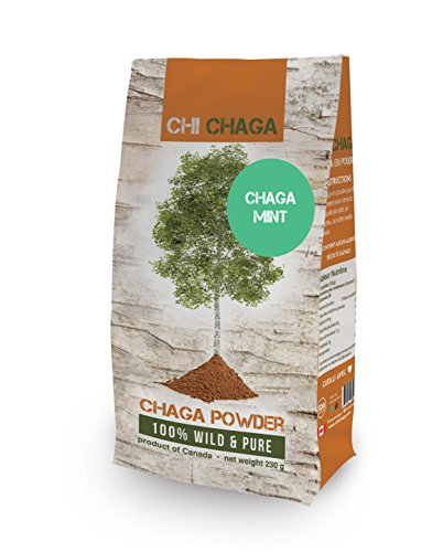 Premium Chaga Mushroom Mint Powder - 8 oz of Authentic Wild Harvested Canadian Chaga Tea - Superfood