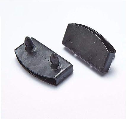 N / A - Soporte de listón lateral para cama de 20 piezas, 50 x 9 solo enchufe de goma negro para listones de cama lateral tapas de plástico para ...