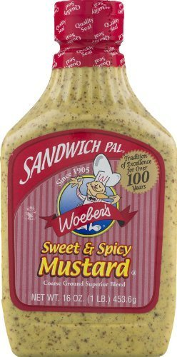 Woeber's Sandwich Pal Sweet and Spicy Mustard 16oz ()