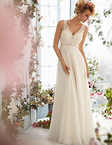 CoCogirls -  Vestito  - linea ad a - Donna bianco 44