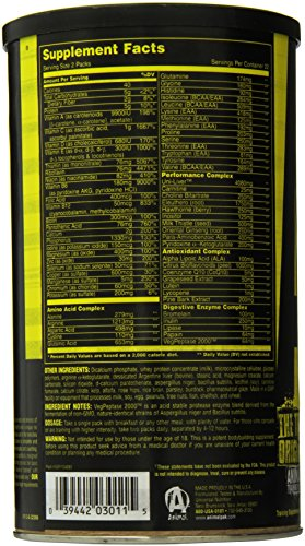 Animal Pak Multivitamin Sports Nutrition Vitamins With