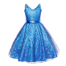 ADHS Kids Baby Flower Girl Formal Occasion Wedding Gowns Sleeveless Lace Dresses