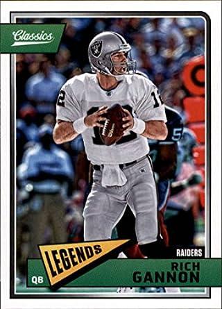 2a4b80566f4 2018 Classics Football  170 Rich Gannon Oakland Raiders Legend Panini NFL  Card