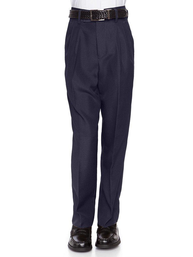 RGM 100% Dacron, Pleated Front, Boys Dress Slacks Navy 18 by RGM (Image #5)