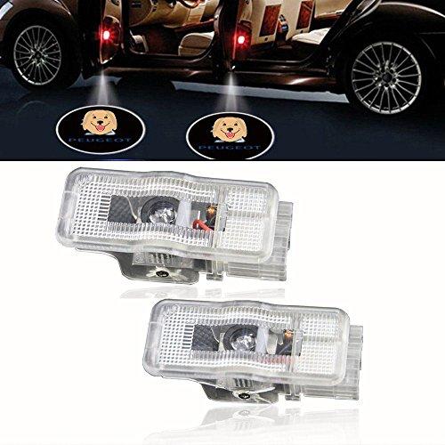 2PCS Car LED Courtesy Logo Light Peugeot Welcome Lamp Auto Step Light For Peugeot 307 308 508 408 RCZ 206 306 207 208 406 5008 607 806 807