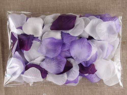 Schoolsupplies 1000pc Mixed Color Rose Petals Purple,lavender,white Wedding Table Decoration]()