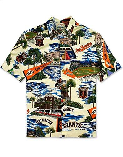 Reyn Spooner Men's San Francisco Giants MLB Classic Fit Hawaiian Shirt, Scenic 2018, S