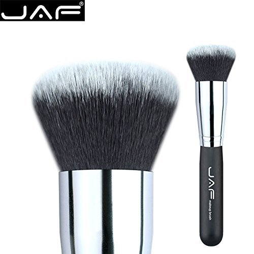 Dome Makeup Brush (JAF Dome Kabuki Makeup Brush - The Multipurpose Kabuki Brush Professional Eco-Friendly,Blending Cream, Liquid, prefact cover to Your Eyes, Forehead & Cheeks, Maestro Quality 18SSYM (black))