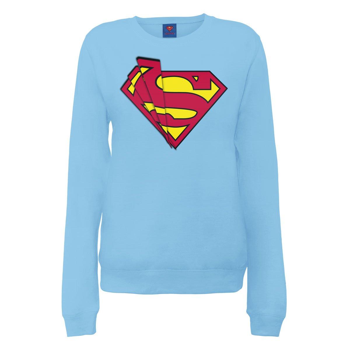 DC Comics Official Superman Shards Logo Womens Sweatshirt - Sudadera Mujer DC0003031