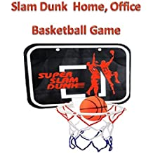 Play Kreative Mini Slam Dunk Basketball hoop for Bedroom, Bathroom, Toilet, Office - Basketball hoop Game Toy for home indoors and Kid Education and Basketball Lovers