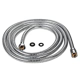 Purelux 100 Inch (8'4'') Extra Long Shower Hose for Handheld Shower Head with Brass Fittings, 8 feet 4 inches made of Stainless Steel Chrome Finish