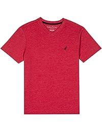 Big Boys' Short Sleeve Solid V-Neck Tee Shirt