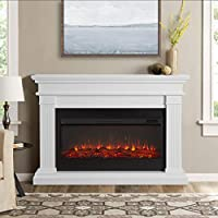 Real Flame Beau Electric Fireplace in Wh...