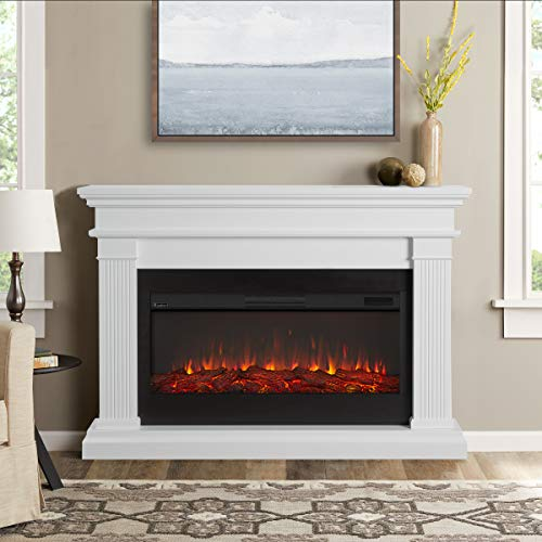 Real Flame Beau Electric Fireplace, White