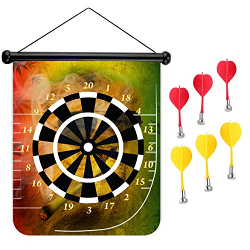 15 inches Magnetic Dart Board Double Sided Hanging Dart Board Set and Bullseye Game! Cigar - Dartboard Sunglasses