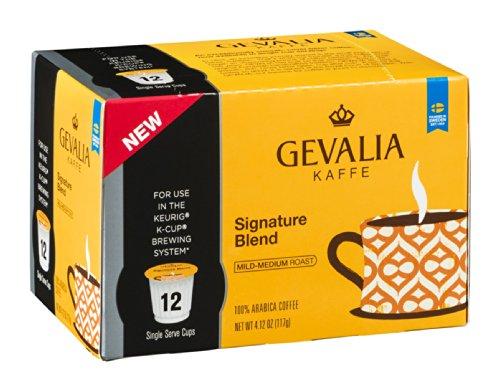 Gevalia Keurig K Cup Coffee Pods, Mild Signature Blend, (12 Count)
