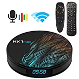 Android TV Box 9.0, Android TV Box RK3318 5.8G 2.4G Dual Band WiFi 4GB 32G Bluetooth 4.1 and Google Assistant Air Mouse with Gyro Media Player 3D 4K HD Resolution Set Top Tv Box