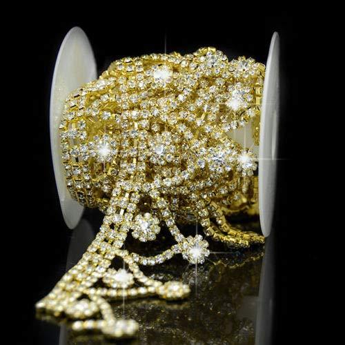 FidgetFidget Sewing Crystal Rhinestone Tassel Chain Trimming Applique Trim Wedding Décor 1 Yd ()