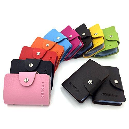 UPC 756790040220, Credit Card Holder Wallet for Women Men - 24 Card Slots (Brown)