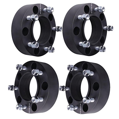 """WEELTK 4pc 2"""" Hubcentric Wheel Spacers 5x150 with M14x1.5 Studs Compatible with 1998-2019 Toyota Land Cruiser 