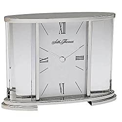 High Polish And Gloss Made Out Of Alloy And Glass Stamped Dial Hands Finished In Silver Glass Carriage Table Clock