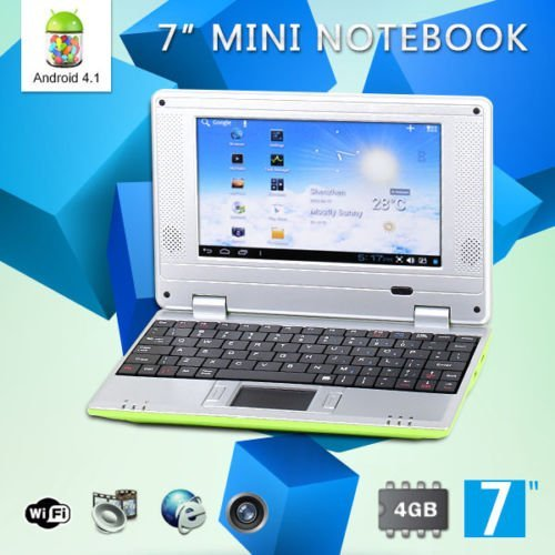 goldengulf 7 inch computer laptop for children 4 1 jelly bean mini android green buy. Black Bedroom Furniture Sets. Home Design Ideas