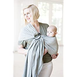 Moby Ring Sling | Versatile Support Wrap for Mothers, Fathers, and Caregivers | Baby Wrap and Carrier for Newborns…