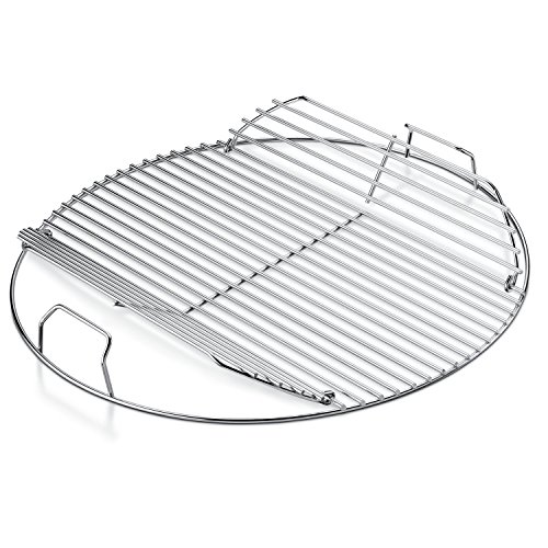 Barbeque Grill Kettle (Weber 7436 Replacement Hinged Cooking Grate)