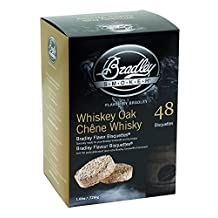 Bradley Smoker BTWOSE48 Whiskey Oak Special Edition Bisquettes (2.75 x 6.875 x 9.25-Inch, Pack of 48)