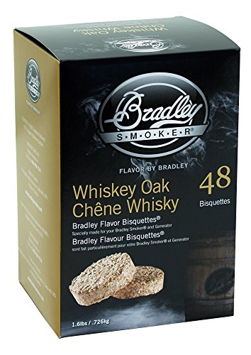 Bradley Smokers Whiskey Oak Special Edition Bisquettes (2.75 x 6.875 x 9.25-Inch, Pack of 48)