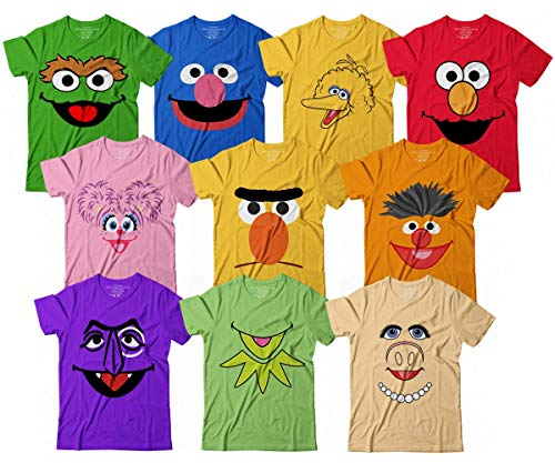 Muppet Costume Cookies Ernie Kermit Frog Grover Halloween Group Costume Kids Adult Customized Handmade T-Shirt Hoodie/Long Sleeve/Tank Top/Sweatshirt]()