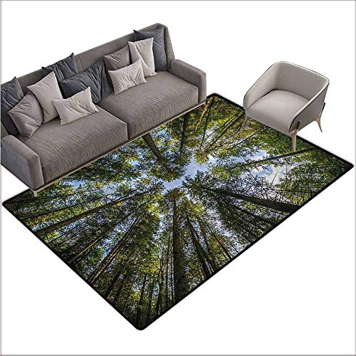 Anti-Slip Outdoor Rugs Nature,Jungle Moss Forest Trees 36