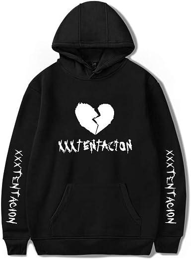 ASLIMAN Rip Xxtentacion Hoodies for Men Women Broken Heart Pullover Hooded Sweatshirt