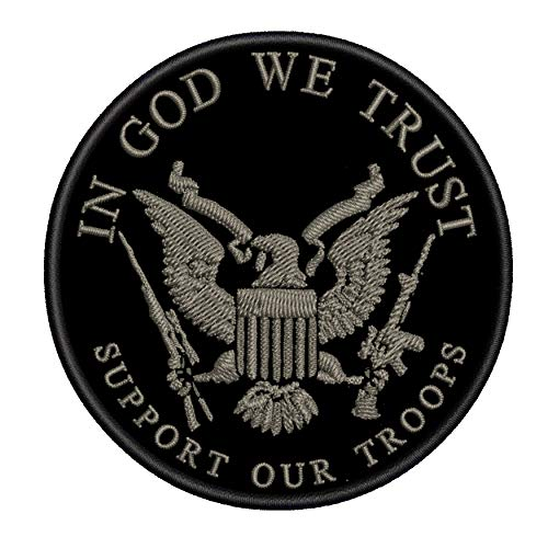 in God We Trust - Support Our Troops - 3.5